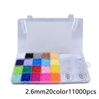 11000pcs 2.6mm Hama Beads Perler Beads Craft Pegboard EVA DIY Educational Toys