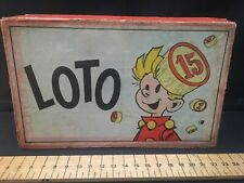 Spirou loto jeux ancien Robbedoes lotto oud speelgoed Franquin 1940 - 1950 BD