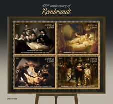 More details for liberia art stamps 2021 mnh rembrandt paintings night watch anatomy lesson 4v ms