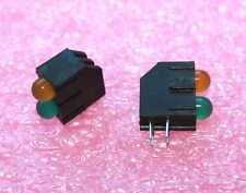 Green/Yellow T-1 3/4 (5mm), Vertical 2 x LED, QT# MV63539.MP94 - Lot of 50