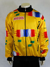 Rare Vintage Men Winter Yellow Campagnolo Succes Cycling Biker Jacket Jersey 8