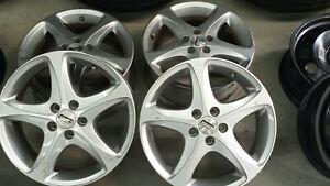 4 x VW,Audi,Skoda,Seat Alu Felge silber 5-Loch 6,5 J 16 H2 ET45 LK 100