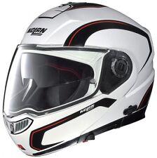 Nolan N104 ACTION N-COM Helmet (Metal White) (M)