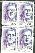 FRANCE 1990 N° 2634 bloc de 4 - Centenaire de la naissance du GENERAL DE GAULLE