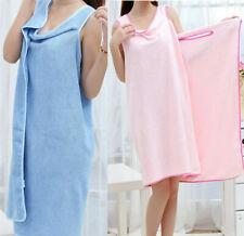 755efcec00 Quick Dry Women Shower Absorbent Microfiber Wrap Towel Body Spa Bath Robe  Dress