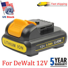 For DeWalt 12V XR DCB121 DCB120 DCB127 DCB100 Extended Cordless Drill Battery US