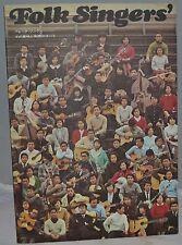 1967 Japanese Book about American Folk Singers Music & Lyrics