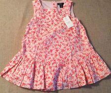 Baby Gap Toddler 18-24 Months Dress Drop Waist Skirt Sleeveless Pink 100% Cotton