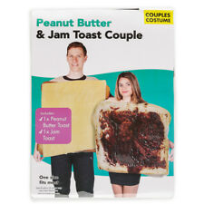 PEANUT BUTTER & JELLY 2 PC HALLOWEEN COUPLE COSTUME SET UNISEX TEEN / ADULT