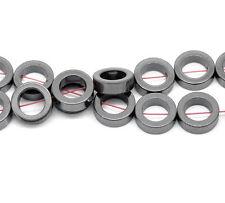 """Hematite donut  beads lot of 1 strand dark grey 12mm round 15"""" longt  <><"""