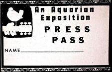 WOODSTOCK PRESS PASS 1969 - ORIGINAL VERY RARE