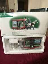 "New England Village Series / Dept 56 / "" Dairy Delivery Sleigh "" Nib"