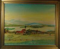 """H. Meyer """"Bodenseelandschaft"""" Aquarell auf Bütten, signiert, datiert 1942"""
