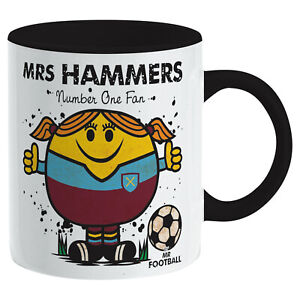 Mrs HAMMERS MUG. Gift Boxed. Present idea for HAMMERS football. WEST HAM, Woman