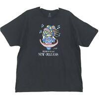 Jamie Hayes Bluesman New Orleans Graphic Tee Mens 2XL XXL Black Wearable Art