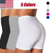 Women's Fitness Bike Shorts Soft Stretch Leggings Cropped Workout Yoga Shorts