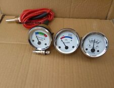 White Face Early Oliver Tractor Temperature + Oil Pressure + Ammeter Gauge