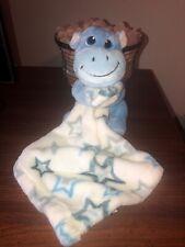Little Biginnings Blue Hippo Holding White Star Blue, Gray Blankie Snuggle Baby
