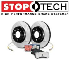 Lancer Evo AWD 2008-2014 Rear StopTech Slotted Brake Rotors Pads Kit 977.46001R