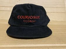 Courvoisier Cognac Mens Promotional Corduroy Baseball Cap Hat Black Adjustable