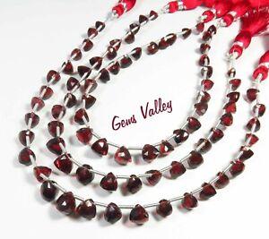 Mozambique Garnet Trillion Briolette Shape Faceted Beads Natural Gemstone GV-916