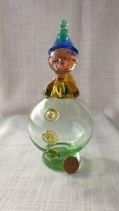 Vintage Murano Glass Clown Decanter/ Perfume Bottle