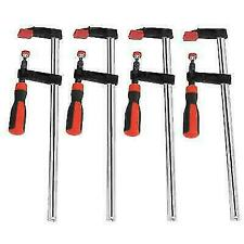 4Pcs Woodworking Wood F Clamps Bar Carpenter Quick Clips Heavy Duty Tool Steel