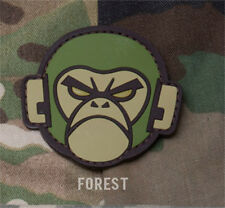MORALE Patch Mil spec Monkey- ANGRY MONKEY HEAD - PVC - FOREST hook back