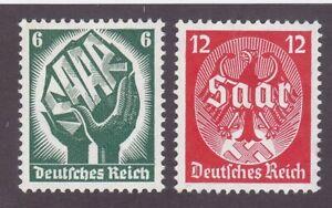 Germany 444-45 MNH OG 1934 Allegory Saar & German Eagle Cv $67