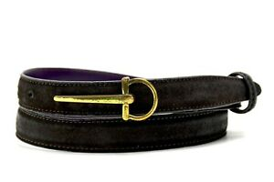Elliot Rhodes Original Womens Leather Belt Slim Brown Size 36
