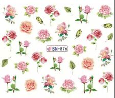 Nagelsticker Nagel Tattoos Blume Blüten Rosen Blumen Flowers Rose Nail Sticker