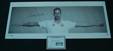 MITCHELL JOHNSON HAND SIGNED INTIMIDATOR WINGS CRICKET AUSTRALIA LIMITED PRINT