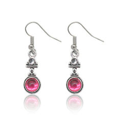 Long 925 Silver Moonstone Red Agate Dangle Hook Earrings Fashion Wedding Jewelry