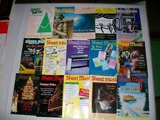 SHEET MUSIC MAGAZINE LOT OF 15, INCLUDES CHRISTMAS MUSIC