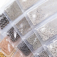 Mixed Size 3D Metal Balls Nail Art Decorations Caviar Beads Manicure Accessories