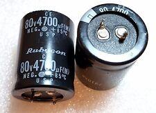 2pcs Rubycon 4700uF 80V Snap In Aluminum Electrolytic Capacitor USP