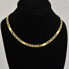 """14k Yellow Gold Alternate 2 Typts Fancy Links Polished  17"""" Long  For Men & Wome"""