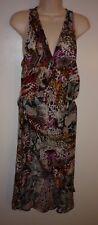NEW Kenneth Cole Animal Print Wrap Dress Coverup Size S/M S M Swim Beach Cruise