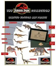 Jurassic Park Collection Limited Edition Lithograph Prints (Set of 9 Prints)