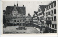 Tübingen Baden-Württemberg alte Ansichzt Partie am Marktplatz Gasthof Zum Lamm