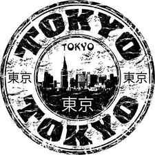 """Tokyo Japan Travel Stamp Bumper Sticker 5"""" x 5"""""""