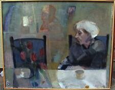 """Marianne Kanter * 1944, """" Warten"""", verso datiert 1992"""