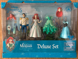 NIB Disney Parks Disney Princess The Little Mermaid Mini Doll Deluxe Play Set