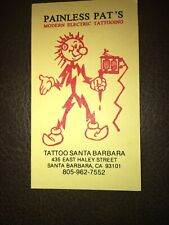 Vintage Tattoo Business Card Pat Fish, CA.