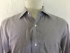 Galtrucco Mens Button Front Shirt Size 16,1/2-42 Houndstooth Pattern