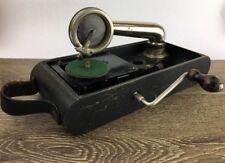 Vintage Portable Swiss Excelda Concert Sound Box Windup Gramophone Record Player