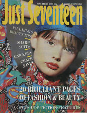 Just Seventeen Magazine 6 November 1985   Rob Lowe   Grace Jones   Iron Maiden