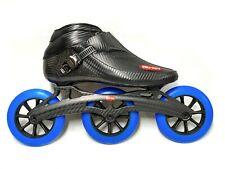 Trurev 2021 Carbon Fiber Pro Inline Speed Skate - 3 Wheel Carbon Fiber Frame