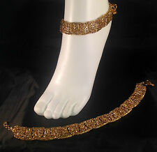 Gold Anklet/Payal,Stunning Fashion jewellery,Bollywood style,SV23-502
