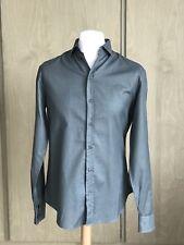 Armani Collezioni Men Textured Formal Shirt/ Dark Green/ Size M